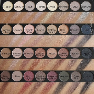 Makeup Revolution Ultra 32 Eyeshadow Palette in Flawless Swatches